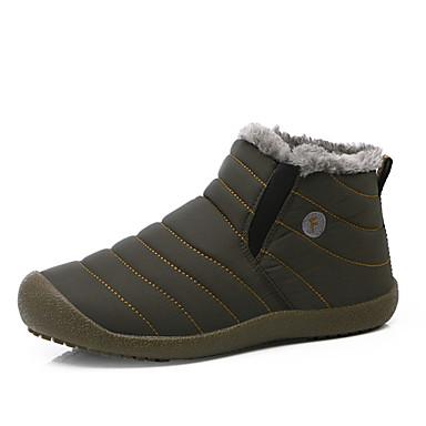 Herrn Schuhe Stoff Winter Schneestiefel Stiefel Walking Grau / Blau