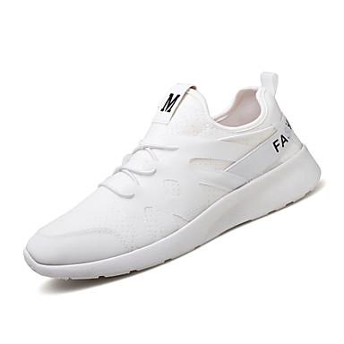 Férfi cipő Szövet Nyár Ősz Könnyű talpak Kényelmes Tornacipők mert Hétköznapi Szabadtéri Fehér Fekete