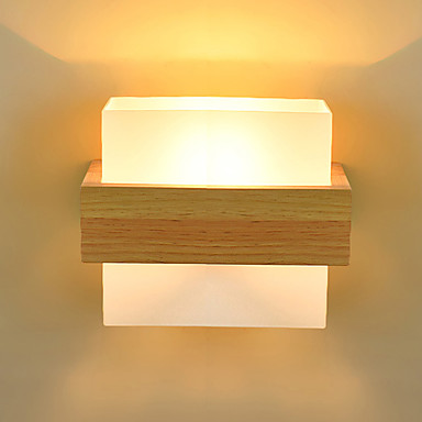 Simple / LED / Country Wall Lamps & Sconces Wood / Bamboo Wall Light 220V 5 W / E27