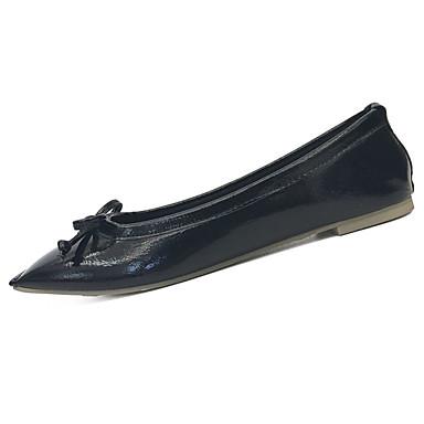 Damen Loafers & Slip-Ons Komfort Sommer PU Normal Schnürsenkel Flacher Absatz Schwarz Beige Königsblau Flach