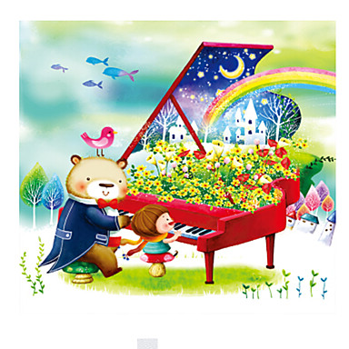 Holzpuzzle Piano Bär andere Holz Zeichentrick 6 Jahre alt und höher
