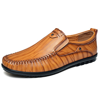 Férfi cipő Nappa Leather Tavasz / Ősz Kényelmes Papucsok & Balerinacipők Fekete / Barna / Sötétbarna / Party és Estélyi