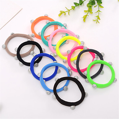 Galaxy Towel Hair Circle Korean Version of the Color of High-Elastic Rubber Band New Promotional Base Hair Rope 10PCS