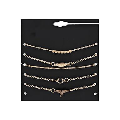 Női Elbűvölő karkötők - Leaf Shape Vintage, Punk, Rock Karkötők Arany Kompatibilitás Karácsony / Esküvő / Parti