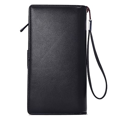 Men's Bags PU Checkbook Wallet for Shopping / Formal / Office & Career Black / Coffee
