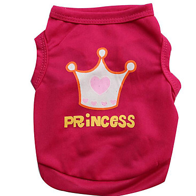 Dog Vest Dog Clothes Princess Fuchsia / Pink Cotton Costume For Pets Summer Men's / Women's Casual / Daily