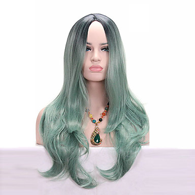 Synthetic Wig Wavy Synthetic Hair Wig Medium Length Capless