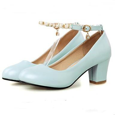 Damen High Heels Komfort Frühling Sommer PU Normal Weiß Blau Rosa 5 - 7 cm