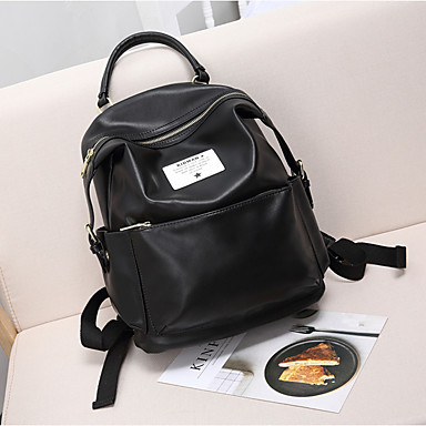 Women's Bags PU Backpack for Casual All Seasons Brown Green Black