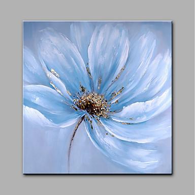 هانغ رسمت النفط الطلاء رسمت باليد - الأزهار / النباتية الحديث كنفا / توالت قماش