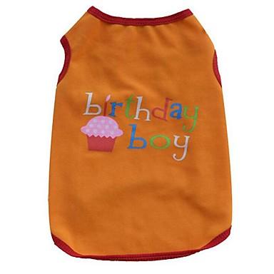 Dog Vest Dog Clothes Cartoon Orange / Purple Cotton Costume For Pets Summer Men's / Women's Casual / Daily