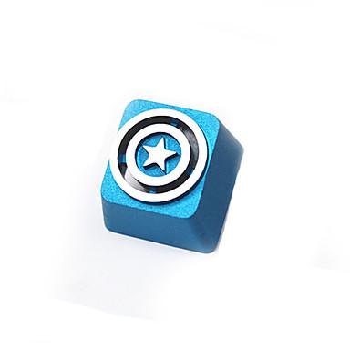 Transparente Metall-Aluminium-Legierung Keycap-Set für mechanische Tastatur oben gedruckt