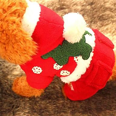 Kutya Kapucnis felsőrész Kutyaruházat Karácsony Tömör Piros