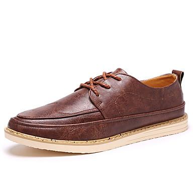 Herrn Schuhe Künstliche Mikrofaser Polyurethan Sommer Komfort Sneakers Schnürsenkel für Normal Draussen Schwarz Gelb Dunkelbraun