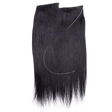 Flip In Human Hair Extensions Classic Human Hair Extensions Human Hair Halo Extensions Women's - Light Blonde Platinum Blonde Dark Wine