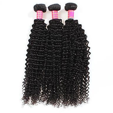 3 csomag Perui haj Göndör / Kinky Curly Kémiai anyagoktól mentes / nyers Emberi haj sző Human Hair Extensions / Kinky Göndör