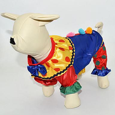 Hund Kostüme / Overall Hundekleidung Cartoon Design Regenbogen Baumwolle Kostüm Für Haustiere Herrn / Damen Cosplay / Lässig / Alltäglich