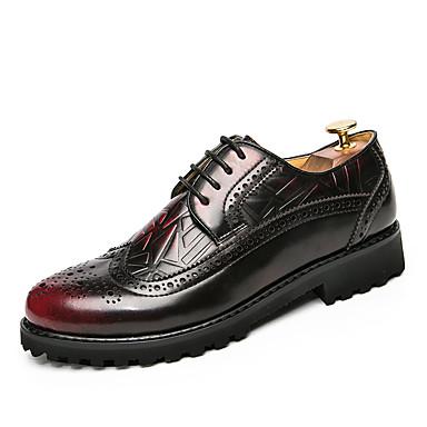 Férfi cipő Bőr Tél Ősz Formai cipő Félcipők Gyalogló Fűző mert Esküvő Hétköznapi Hivatal és karrier Party és Estélyi Fekete Sárga Piros