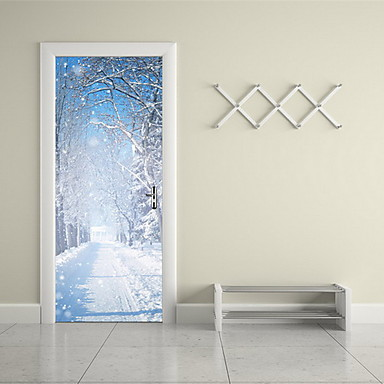 Landschaft Wand-Sticker 3D Wand Sticker Dekorative Wand Sticker Stoff Haus Dekoration Wandtattoo