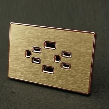Steckdosen Edelstahl Mit USB-Ladegerät Steckdose 12*7*4.4