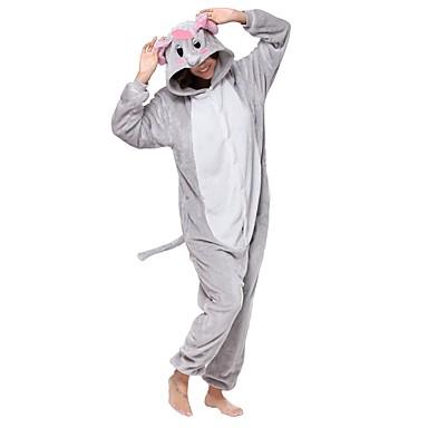 Adults' Kigurumi Pajamas Elephant Onesie Pajamas Costume Flannel Fabric Gray Cosplay For Animal Sleepwear Cartoon Halloween Festival / Holiday / Christmas