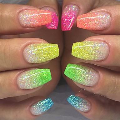 voordelige Nagelverzorging en -lak-12st / 1 set Schitteren Voor 12 kleuren Nagel kunst Manicure pedicure Elegant & Luxe / Glitter & Sprankel / Nail Glitter