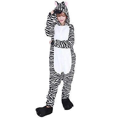 Kigurumi pizsama papuccsal Zebra Onesie pizsama Jelmez Φανελένιο Ύφασμα Fekete/Fehér Cosplay mert Allati Hálóruházat Rajzfilm Halloween