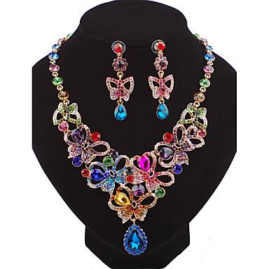 Damen Tropfen-Ohrringe Halskette Personalisiert Luxus Modisch Hochzeit Party Geburtstag Verlobung Geschenk Alltag Zeremonie Aleación
