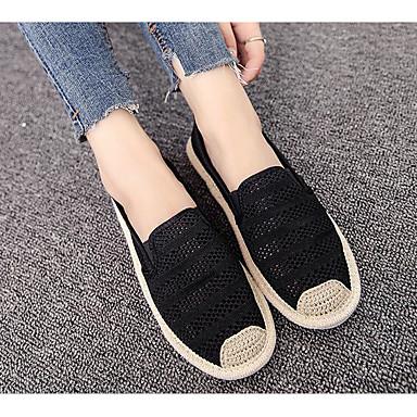 Damen Loafers & Slip-On Komfort Frühling Herbst Tüll Normal Weiß Schwarz Flach