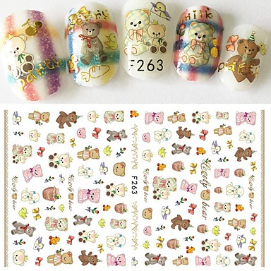 1 pcs 3D Nail Stickers Nail DIY Tools nail art Manicure Pedicure 3D Fashion Daily