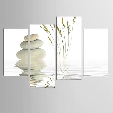 Kifeszített vászonnyomat Absztrakt, Négy elem Vászon bármilyen forma Nyomtatás fali dekoráció lakberendezési