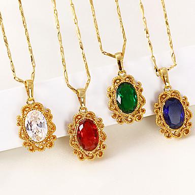 Női Luxus Kocka cirkónia Cirkonium / Arannyal bevont Nyaklánc medálok / Nyakláncok / Nyilatkozat nyakláncok - Luxus / Vintage / Csing