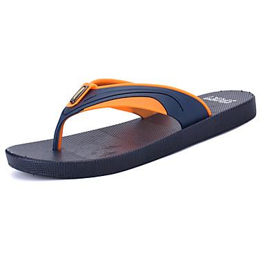 Herren Slippers & Flip-Flops Leuchtende Sohlen PU Sommer Normal Wasser-Schuhe Flacher Absatz Rot Grün Blau Flach