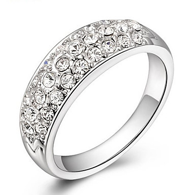 Damen Bandring Kristall Personalisiert Luxus Klassisch Grundlegend Sexy Liebe Elegant nette Art Modisch Krystall Künstliche Perle Aleación