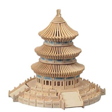 voordelige 3D-puzzels-3D-puzzels Legpuzzel Houten modellen Beroemd gebouw Huis Puinen Natuurlijk Hout Unisex Speeltjes Geschenk