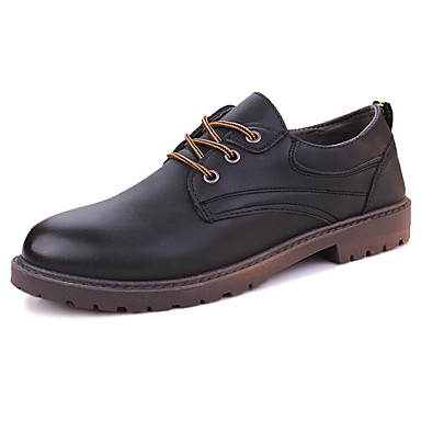 Men's Formal Shoes Rubber Summer / Fall Comfort Oxfords Black / Yellow / Dark Brown