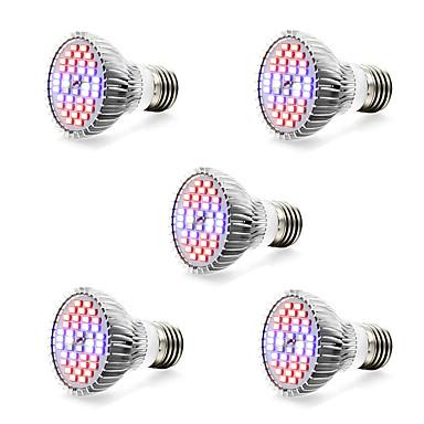 5pçs 7W 800-1200lm E14 GU10 E27 Lâmpada crescente 40 Contas LED SMD 5730 Branco Quente Branco Azul Vermelho 85-265V