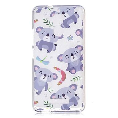 Case For Xiaomi Transparent / Pattern Back Cover Cartoon / Panda Soft TPU for Xiaomi Redmi Note 4 / Xiaomi Redmi Note 3