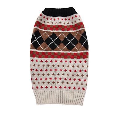 Cica Kutya Kabátok Pulóverek Karácsony Kutyaruházat Pléd / takaró Bézs Spandex Cotton/Linen Blend Jelmez Háziállatok számára Party