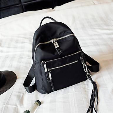 للنساء أكياس كل الفصول قماش اكسفورد حقيبة ظهر إلى فضفاض أسود