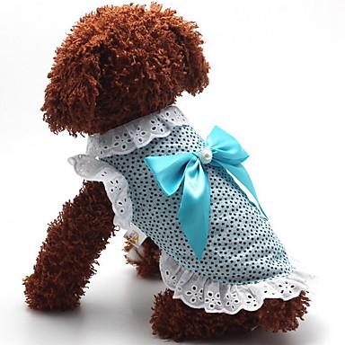 Hund Kleider Hundekleidung Punkt Blau Rosa Baumwolle Kostüm Für Haustiere Sommer Herrn Damen Lässig / Alltäglich