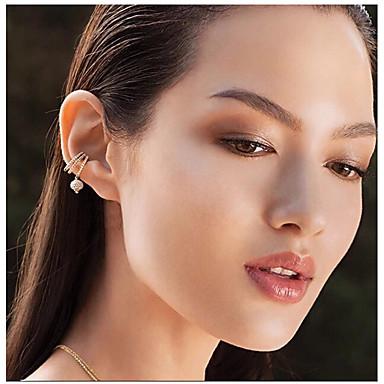 Női Kocka cirkónia Klipszes fülbevalók - Cirkonium, Ezüstözött Bohém, Divat, aranyos stílus Ezüst Kompatibilitás Esküvő / Ajándék / Napi