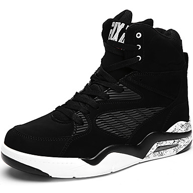 Men's PU(Polyurethane) Fall / Winter Comfort Sneakers Basketball Shoes Black / Blue