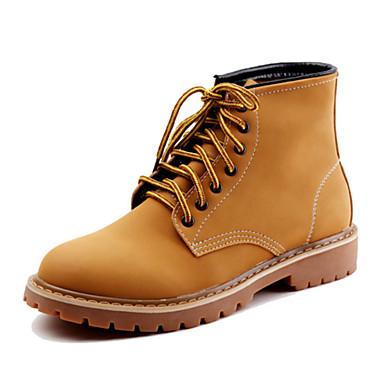 Herrn Schuhe Wildleder Herbst Winter Springerstiefel Modische Stiefel Neuheit Komfort Stiefel Walking Booties / Stiefeletten Schnürsenkel