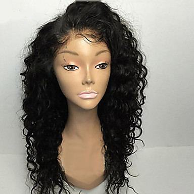 Remy Human Hair Glueless Lace Front Lace Front Wig Curly Wig 130% 150% 180% Hair Density Natural Hairline African American Wig 100% Hand Tied Women's Short Medium Length Long Human Hair Lace Wig