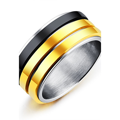 Men's Band Ring - Titanium Steel Vintage, Fashion, Elegant 7 / 8 / 9 / 10 / 11 Gold For Wedding Engagement Ceremony