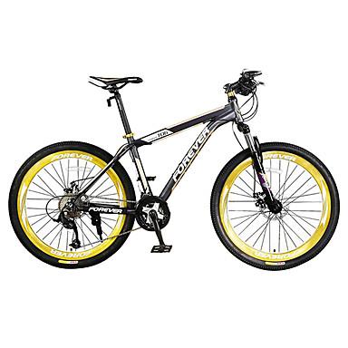 산악 자전거 싸이클링 27 속도 26인치/700CC 마이크로 소프트 더블 디스크 브레이크 서스펜션 포크 알루미늄 합금 프레임 슬립방지 PVC 알루미늄 합금