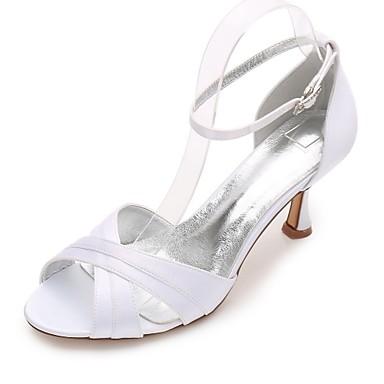 Női Cipő Szatén Tavasz / Nyár Magasított talpú / D'Orsay és kétrészes / Mary Jane Esküvői cipők Cicasarok / Alacsony / Tűsarok Köröm /