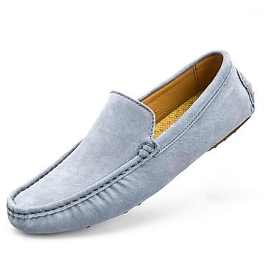 Herrn Schuhe PU Frühling Herbst Komfort Loafers & Slip-Ons für Draussen Blau Hellblau Khaki