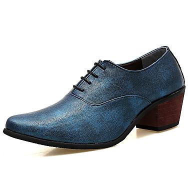 Herrn Schuhe Leder Frühling Herbst formale Schuhe Komfort Outdoor Elastisch für Normal Büro & Karriere Party & Festivität Schwarz Silber